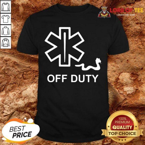Nice EMT Decal Off Duty Shirt