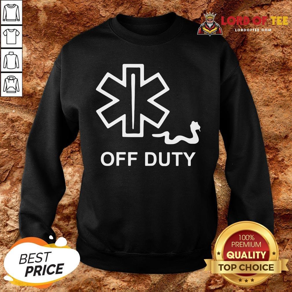 Nice EMT Decal Off Duty SweatShirt