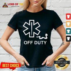 Nice EMT Decal Off Duty V-neck