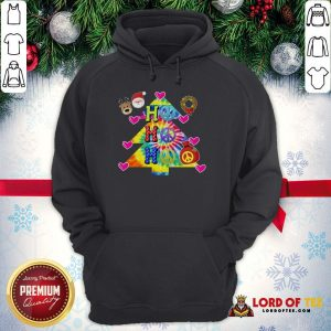 Nice Ho Ho Ho Peace Symbols Santa Reindeer Christmas Tree Hoodie