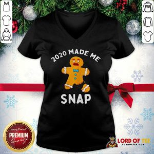 Nice Made Me Snap Gingerbread Man Oh Snap Christmas V-neck