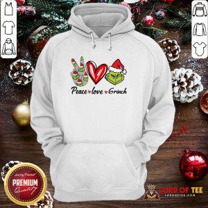 Nice Peace Love Grinch Santa Christmas 2020 Hoodie