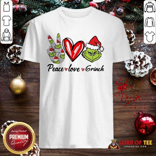 Nice Peace Love Grinch Santa Christmas 2020 Shirt