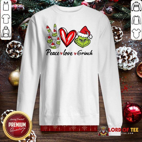 Nice Peace Love Grinch Santa Christmas 2020 SweatShirt