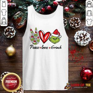 Nice Peace Love Grinch Santa Christmas 2020 Tank Top