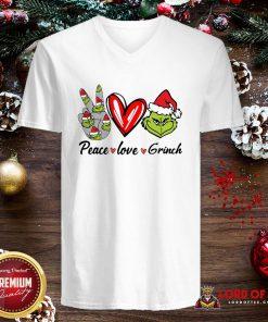 Nice Peace Love Grinch Santa Christmas 2020 V-neck