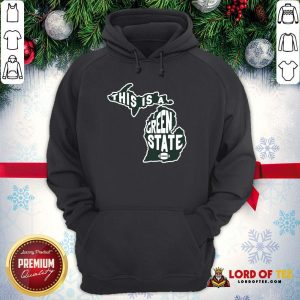 Nice This Is A Green State Michigan Hoodie