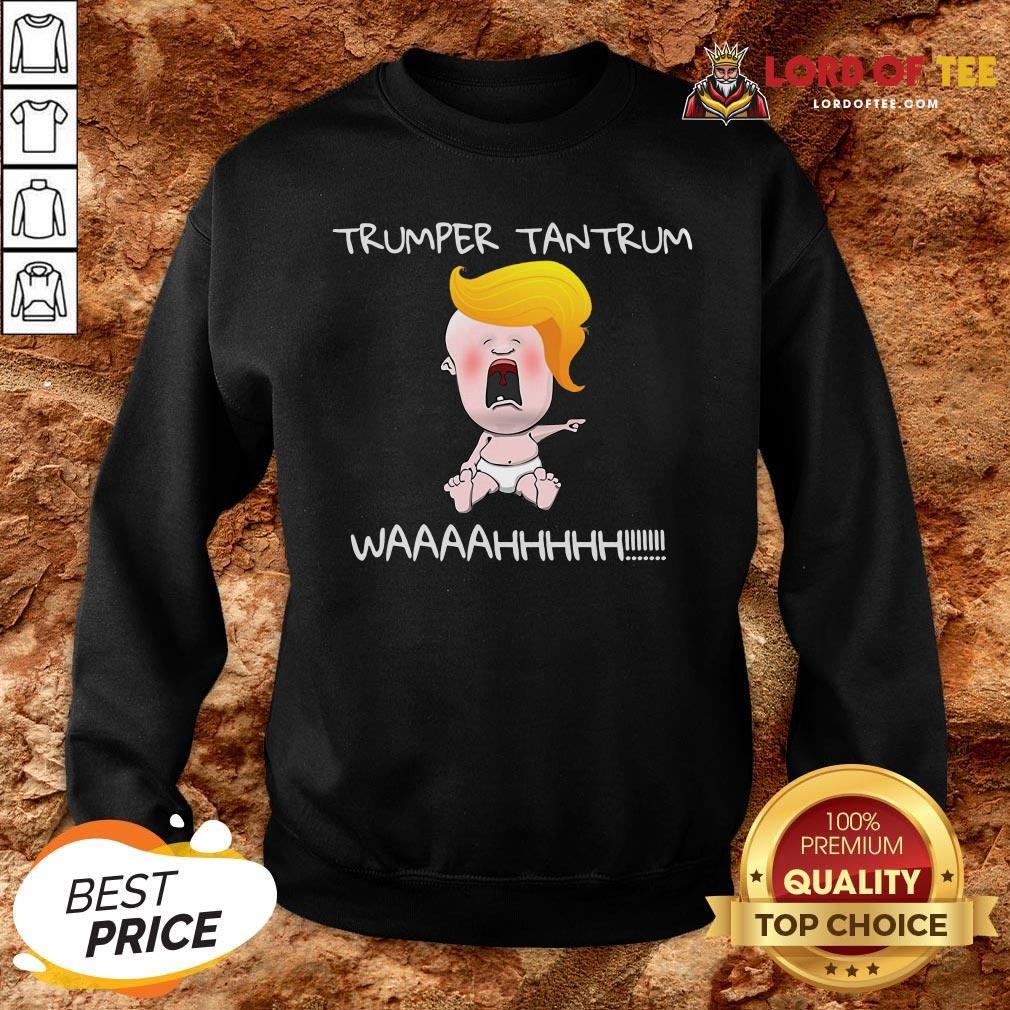 Nice Trumper Tantrum Waaa Baby Trump Election SweatShirt