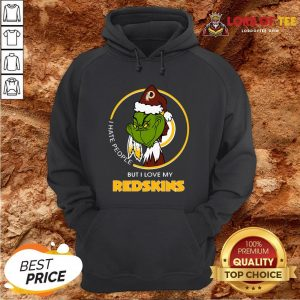 Official Grinch I Hate People But I Love My Washington Redskins Hoodie