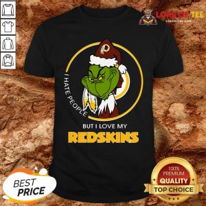 Official Grinch I Hate People But I Love My Washington Redskins Shirt
