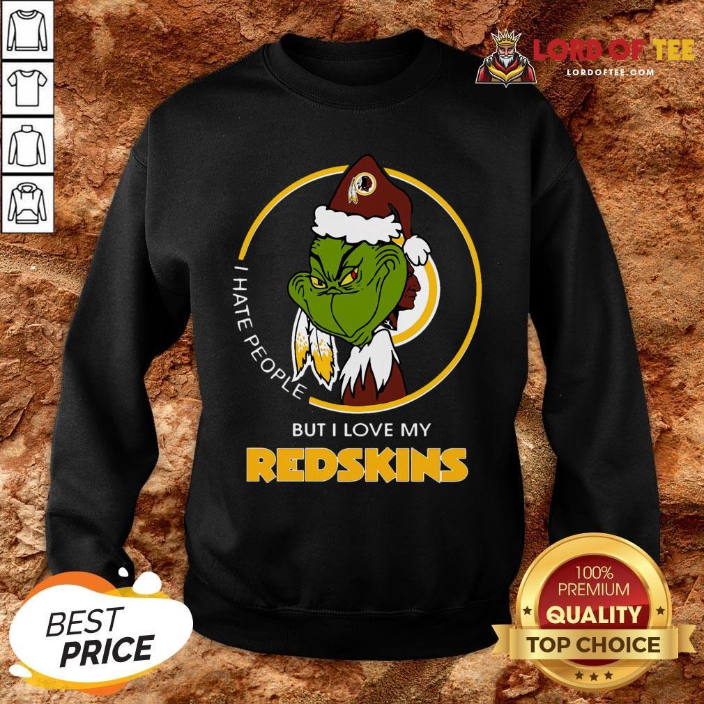 Official Grinch I Hate People But I Love My Washington Redskins SweatShirt