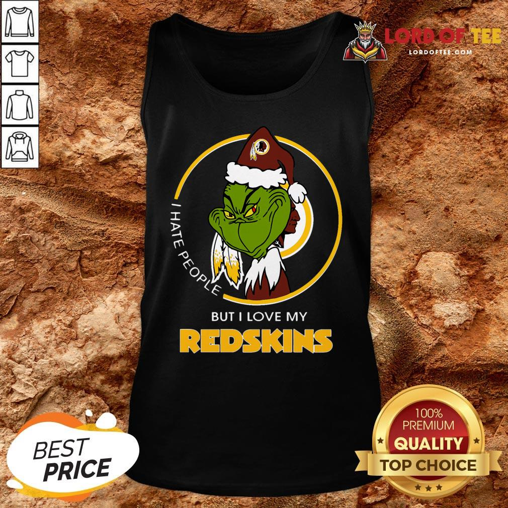 Official Grinch I Hate People But I Love My Washington Redskins Tank Top