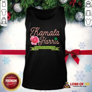 Official Kamala Harris Vice President 2020 AKA Ivy Tea Rose Flower Tank Top