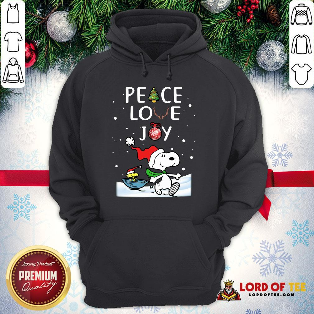 Official Merry Christmas Peanuts Snoopy Peace Love Joy Hoodie