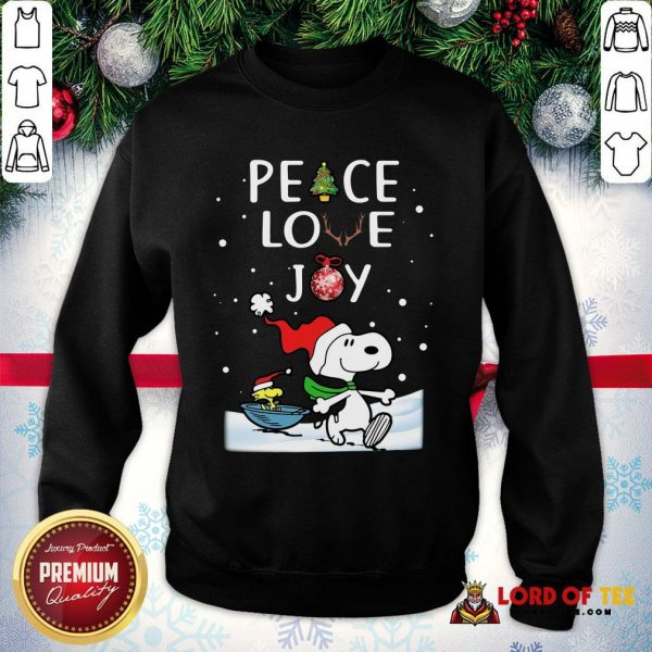 Official Merry Christmas Peanuts Snoopy Peace Love Joy SweatShirt