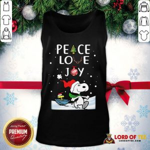 Official Merry Christmas Peanuts Snoopy Peace Love Joy Tank Top