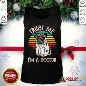Original Trust Me I'm A Dogtor Vintage Tank Top