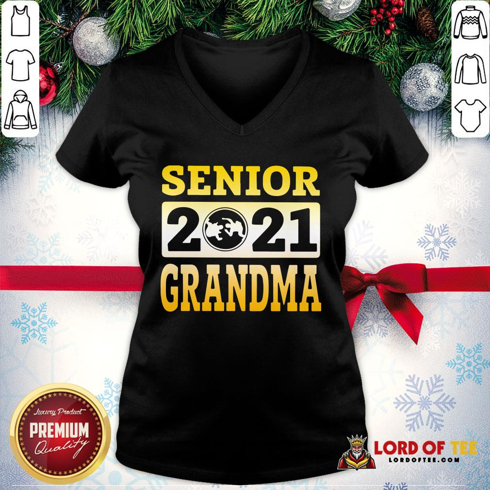 Original Wrestling Senior 2021 Grandma V-neck