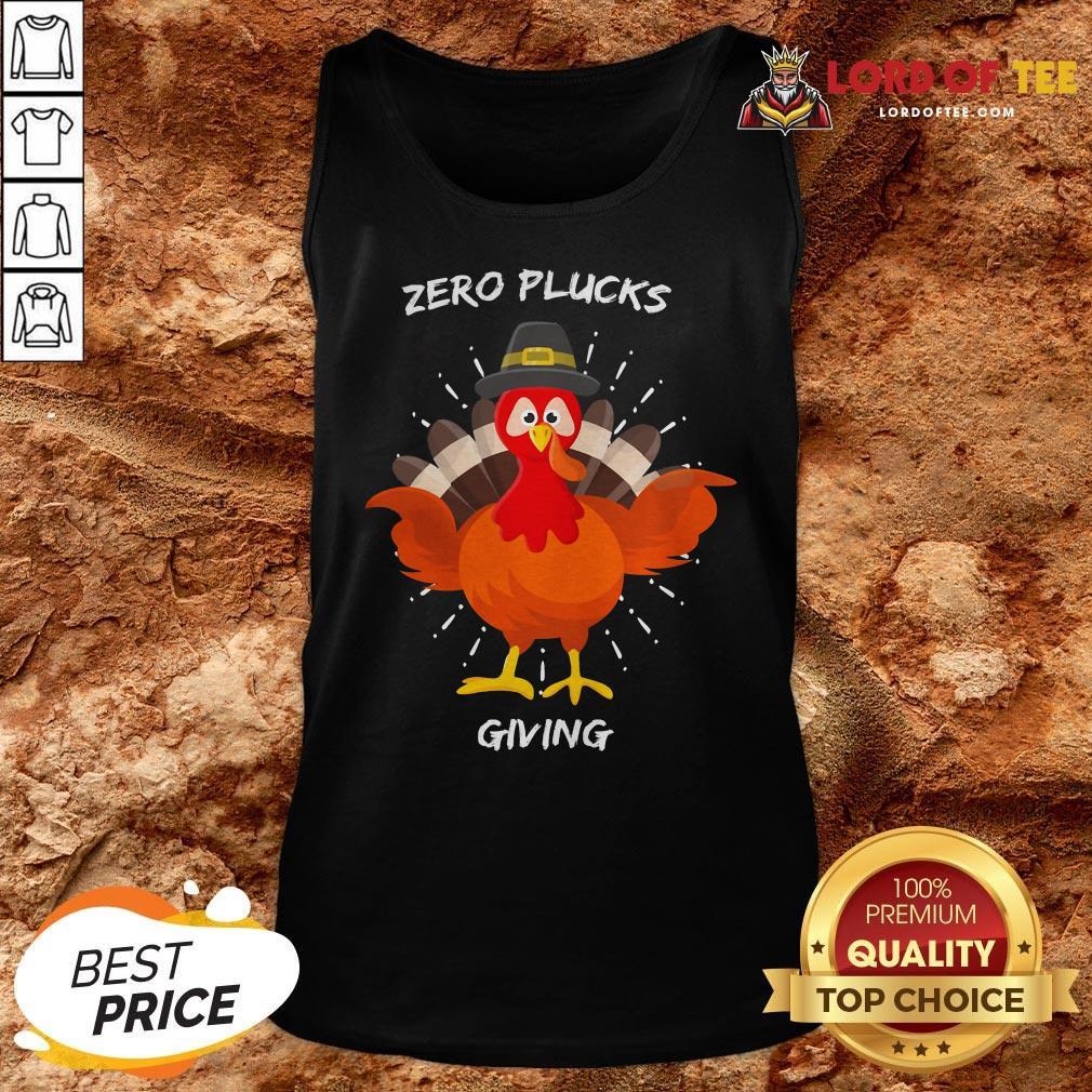 Original Zero Plucks Giving Thanksgiving Turkey Tank Top