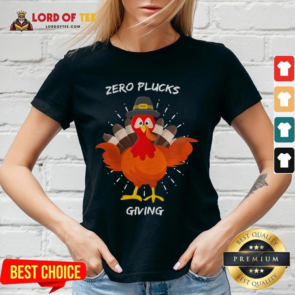 Original Zero Plucks Giving Thanksgiving Turkey V-neck