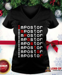 Perfect Among Us Impostor Imposter Video Game V-neck