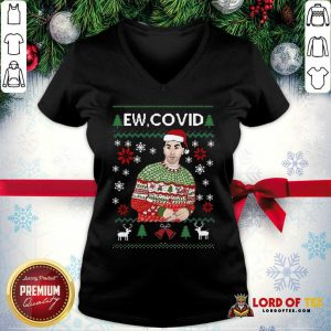 Perfect David Rose Ew Covid Ugly Christmas V-neck