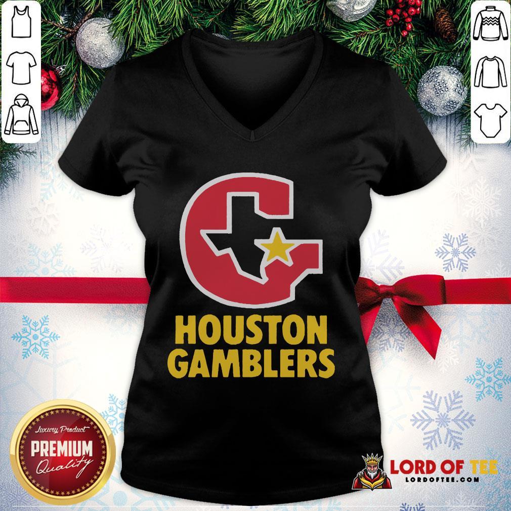 Perfect Houston Gamblers V-neck