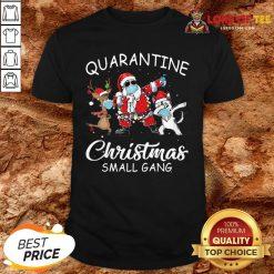 Perfect Husky Small Gang Santa Face Mask Toilet Paper Quarantine Christmas Small Gang Shirt