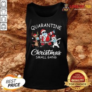 Perfect Husky Small Gang Santa Face Mask Toilet Paper Quarantine Christmas Small Gang Tank Top