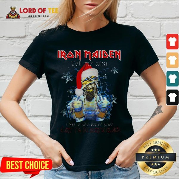 Perfect Iron Maiden Tell Me Why I Want To Be Santa A Claus V-neck