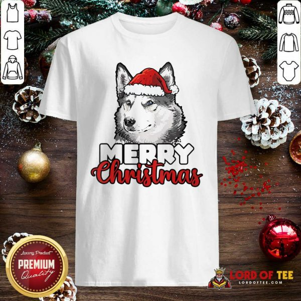 Merry Christmas Siberian Husky Dog Shirt