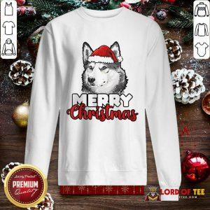 Merry Christmas Siberian Husky Dog SweatShirt