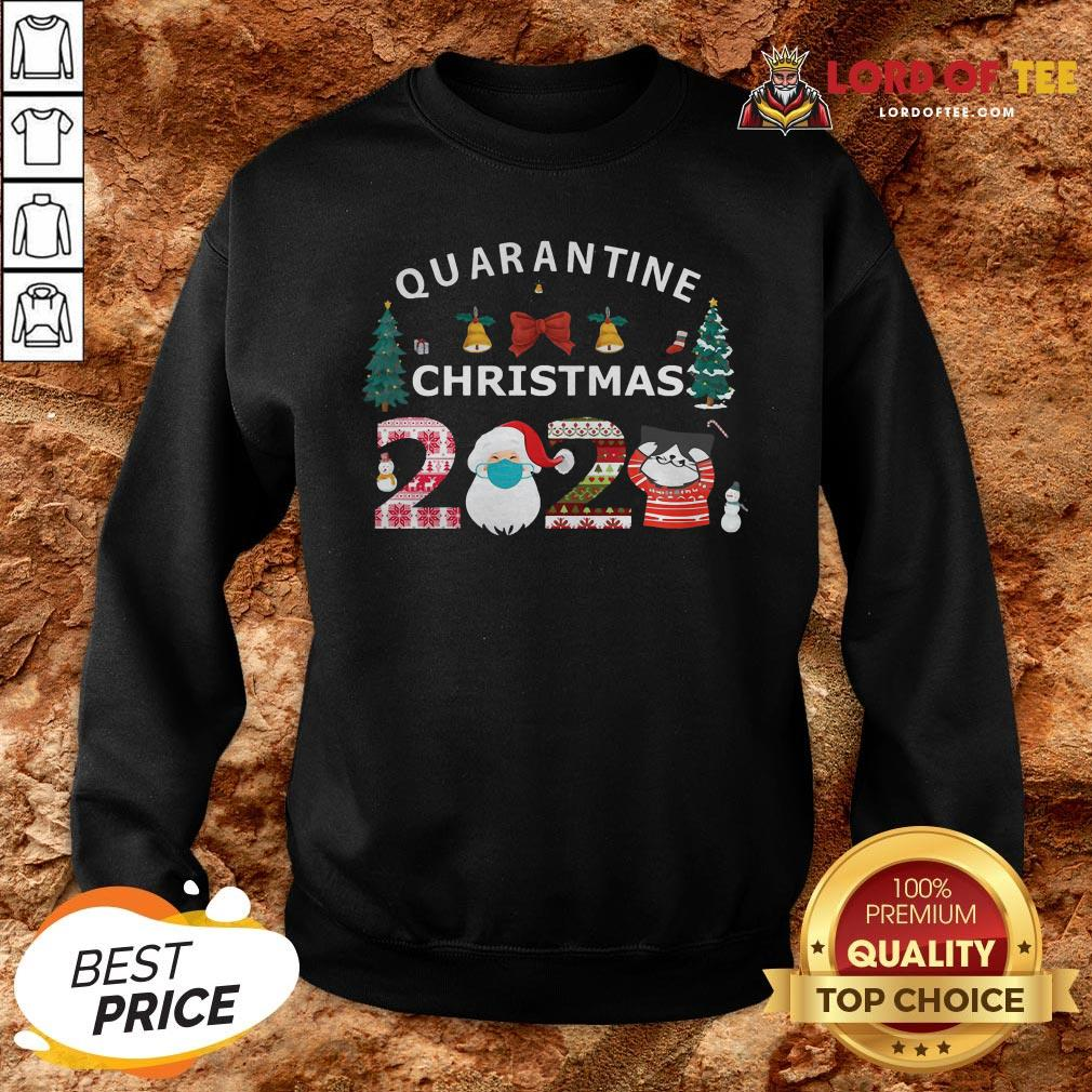 Perfect Quarantine Christmas Santa And Cute Cat 2020 SweatShirt