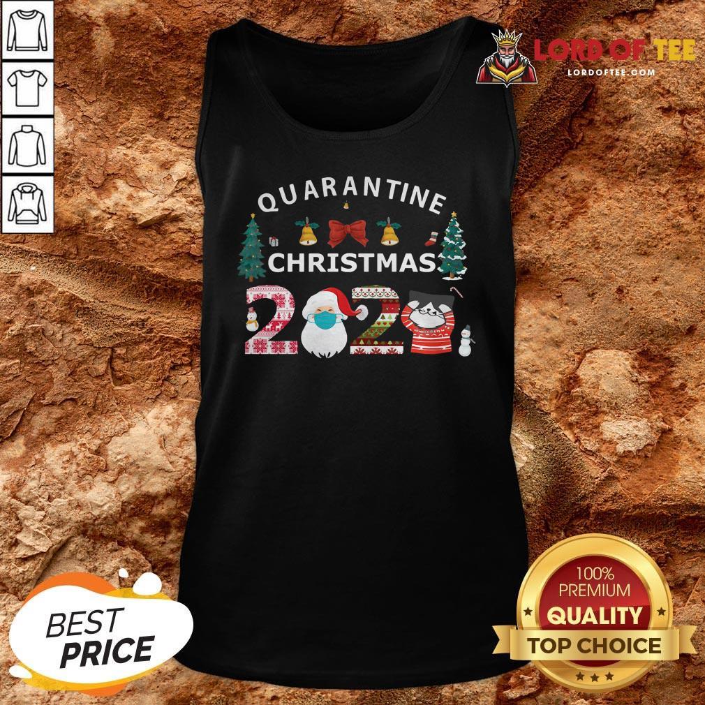 Perfect Quarantine Christmas Santa And Cute Cat 2020 Tank Top
