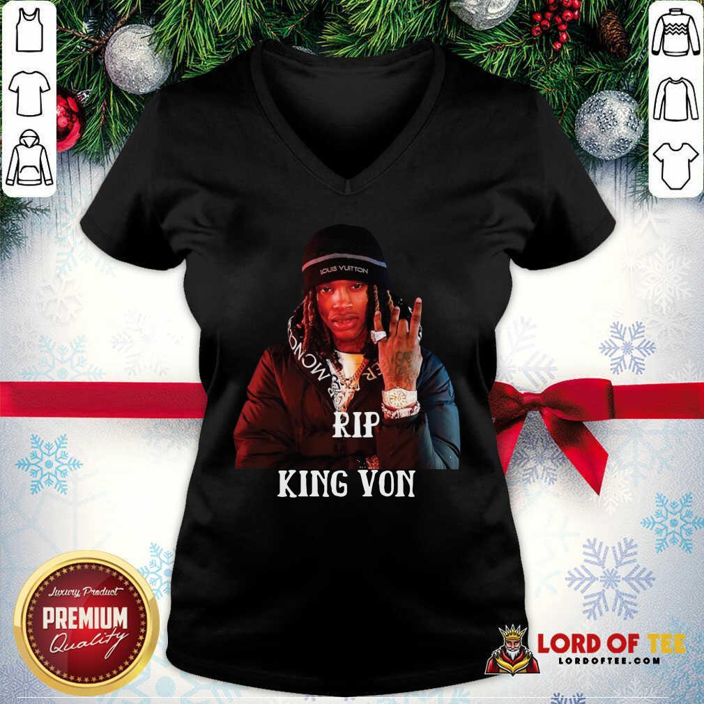 Rip King Von v-neck
