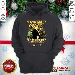 Perfect Sean Connery 007 90th Anniversary 1930-2020 Thank You For The Memories Signature Hoodie