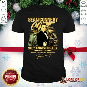Perfect Sean Connery 007 90th Anniversary 1930-2020 Thank You For The Memories Signature Shirt
