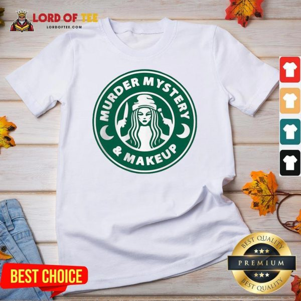 Perfect Starbuck Murder Mystery And Makeup V-neck