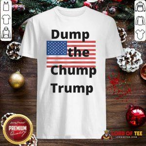 Premium Dump The Chump Trump American Flag Shirt