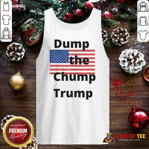 Premium Dump The Chump Trump American Flag Tank Top