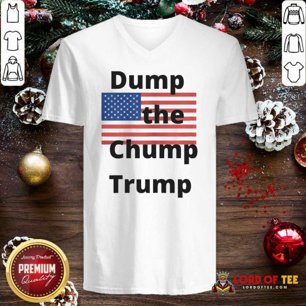 Premium Dump The Chump Trump American Flag V-neck