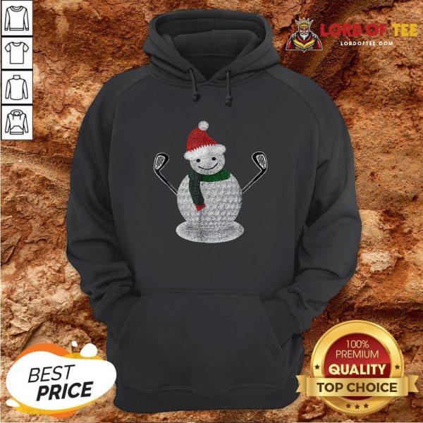 Premium Golf Snowman Ball Funny Christmas Hoodie