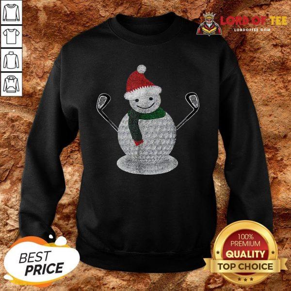 Premium Golf Snowman Ball Funny Christmas SweatShirt