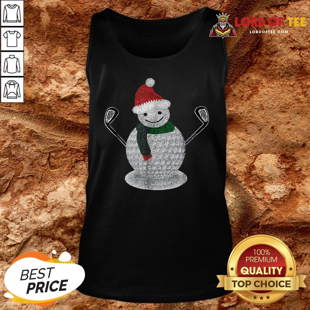 Premium Golf Snowman Ball Funny Christmas Tank Top