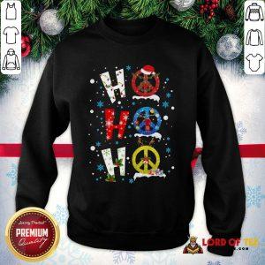 Premium Ho Ho Ho Peace Symbols Merry Christmas SweatShirt