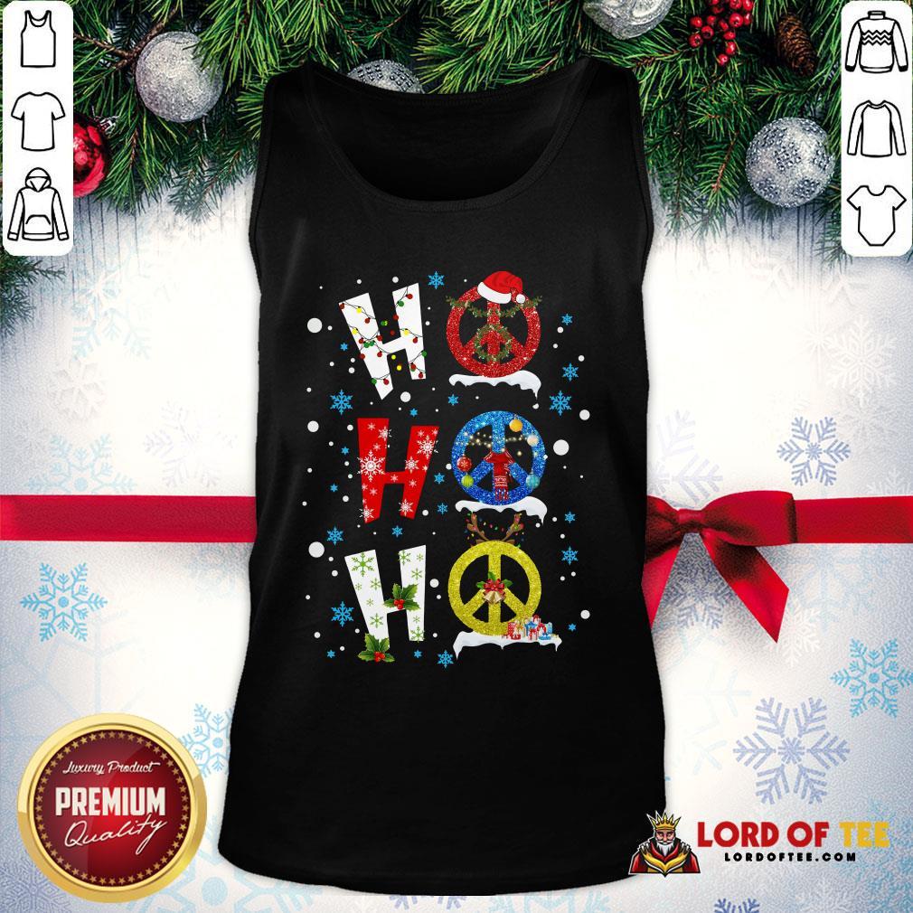 Premium Ho Ho Ho Peace Symbols Merry Christmas Tank Top