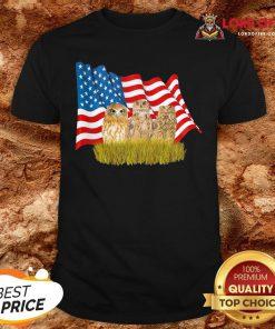 Premium Owls And American Flag Shirt