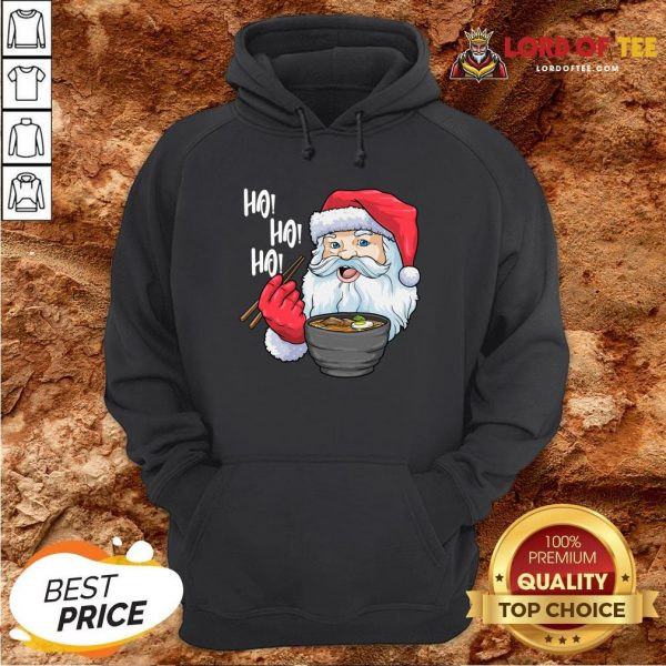 Premium Santa Ramen Noodles Shirt Christmas Japanese Noodles Hoodie