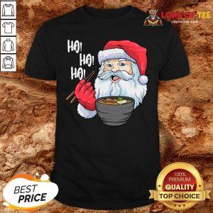 Premium Santa Ramen Noodles Shirt Christmas Japanese Noodles Shirt