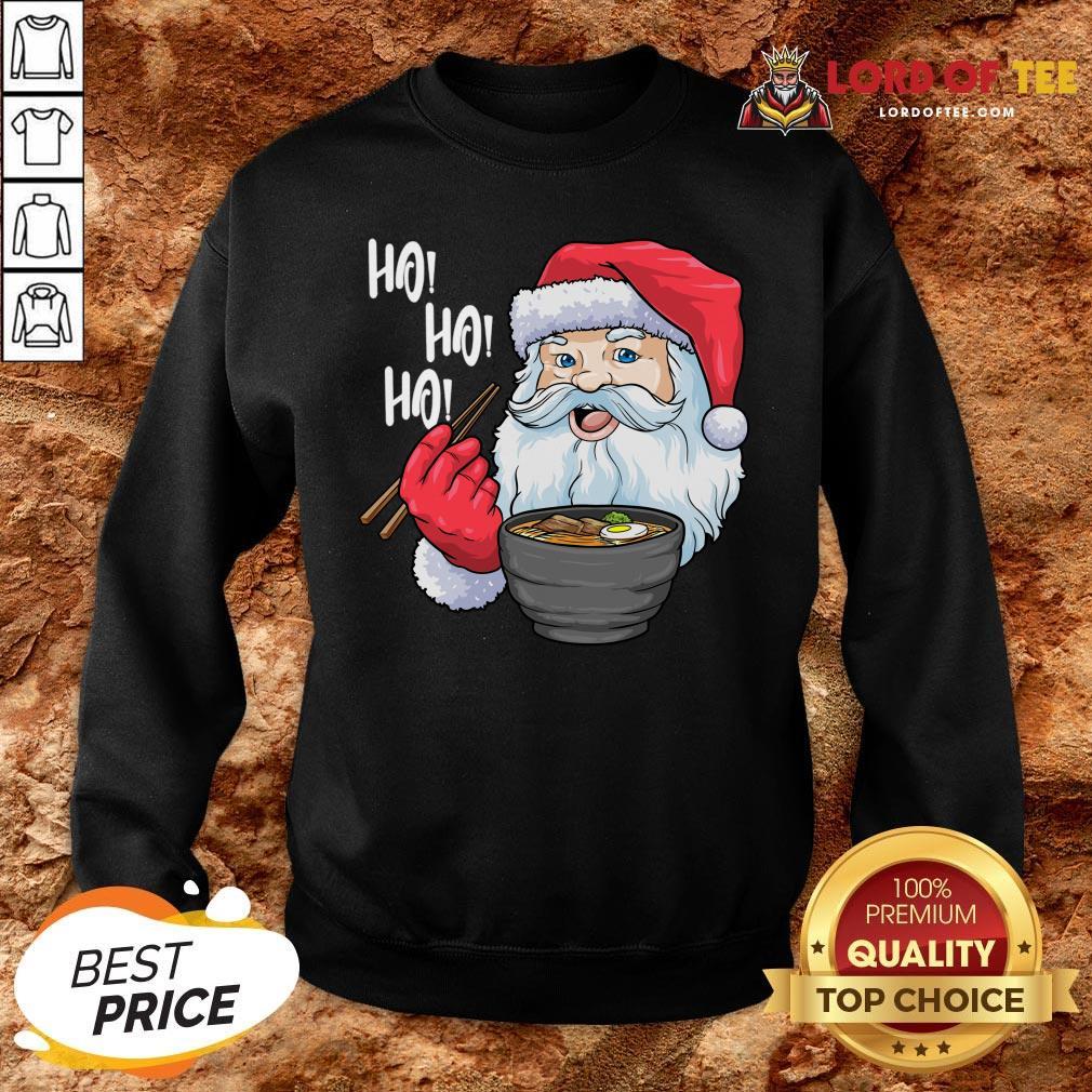 Premium Santa Ramen Noodles Shirt Christmas Japanese Noodles SweatShirt